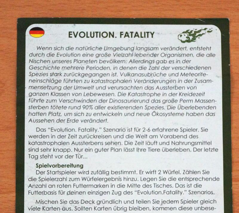 Evolution - Fatality Detail